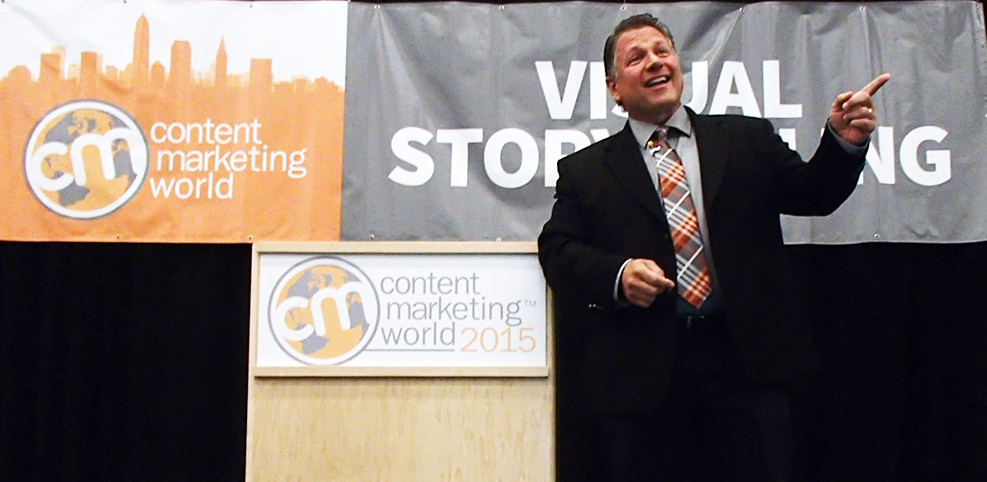 Buddy Scalera presenting on the topic of Visual Content Strategy at Content Marketing World 2015.