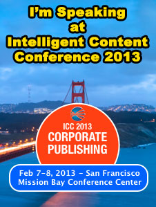 See Buddy Speak at Intelligent Content Conference 2013