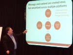 Buddy Scalera talks about channel-agnostic content in a marketing workshop for pharmaceutical marketers. DTC National 2013