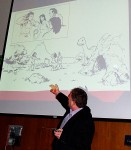 Buddy Scalera explains content strategy using Grok comics drawn by Pat Quinn.  ICC2013 - San Francisco