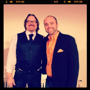 Robert Rose and Joe Pulizzi at the Content Marketing World Master Class 2013 in New York City. Photo by Buddy Scalera.
