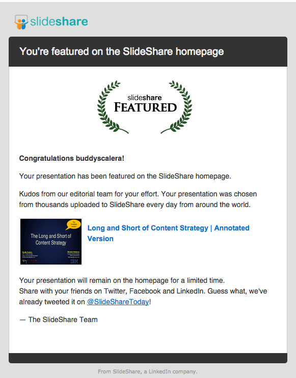 Slideshare email graphic