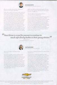 Two-page spread of the Malibu safety ad.