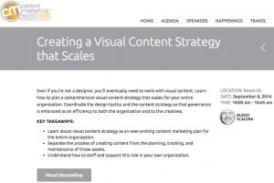 Visual Content Strategy Presentation screenshot